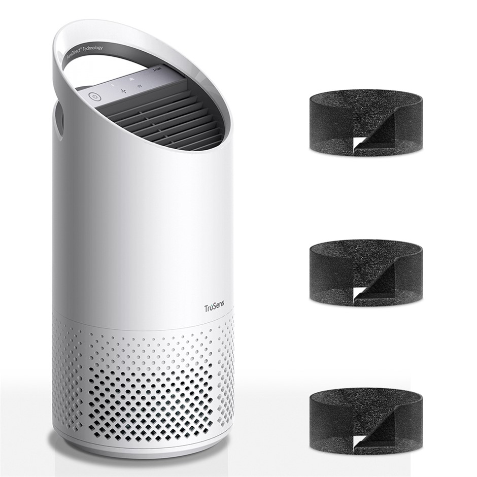 TruSens Z-1000 Small Room Air Purifier w/3PK Replacement Filters