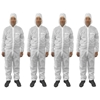 4pc Protective Dust/Paint Size S Polyester Overall/Coverall Suit
