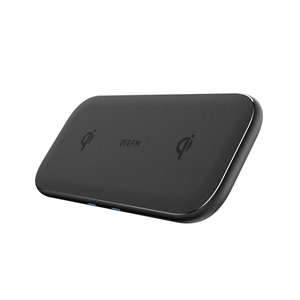 EFM 15W Dual Leather Wireless Charge Pad