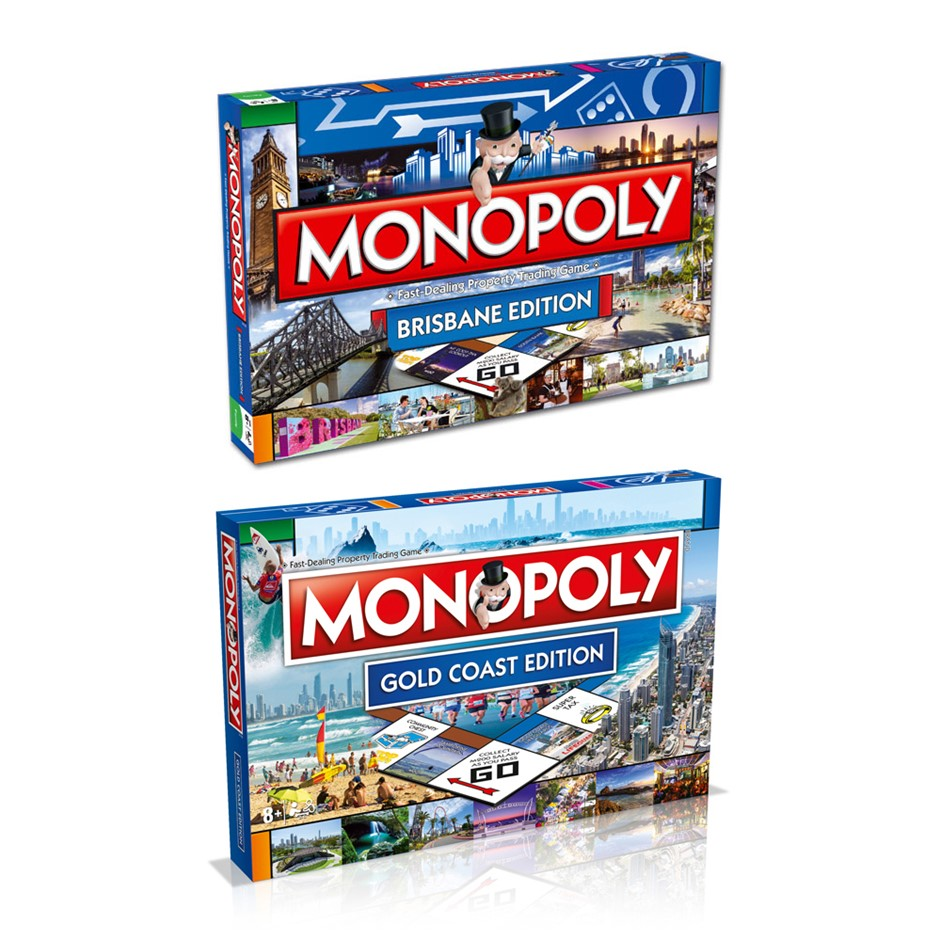 2PK Monopoly Board Game Brisbane & Gold Coast Edition