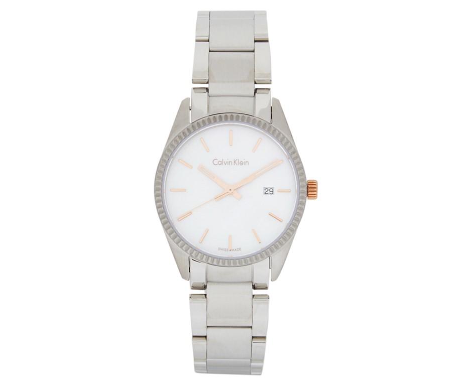 Calvin Klein Women's 30mm Alliance Watch - Silver/Mother Of Pearl