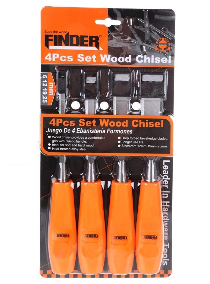FINDER 4pc Wood Chisel Set 6, 12, 19 & 25mm. (SN:YW4-A058) (278516-82)