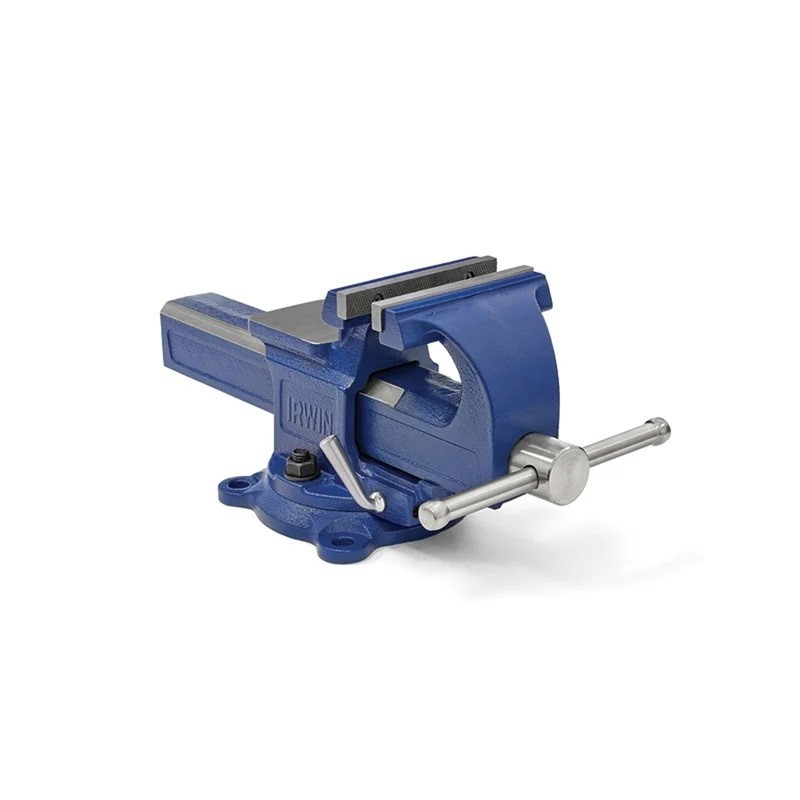 IRWIN Quick-Adjusting Vice, 125mm Jaw Width, Integrated Hardened Steel Anvi