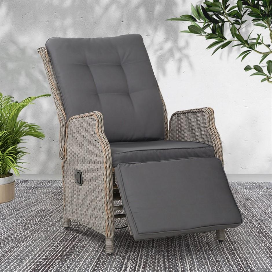 Gardeon lounge Setting Recliner Chair Outdoor Furniture Patio Wicker Sofa