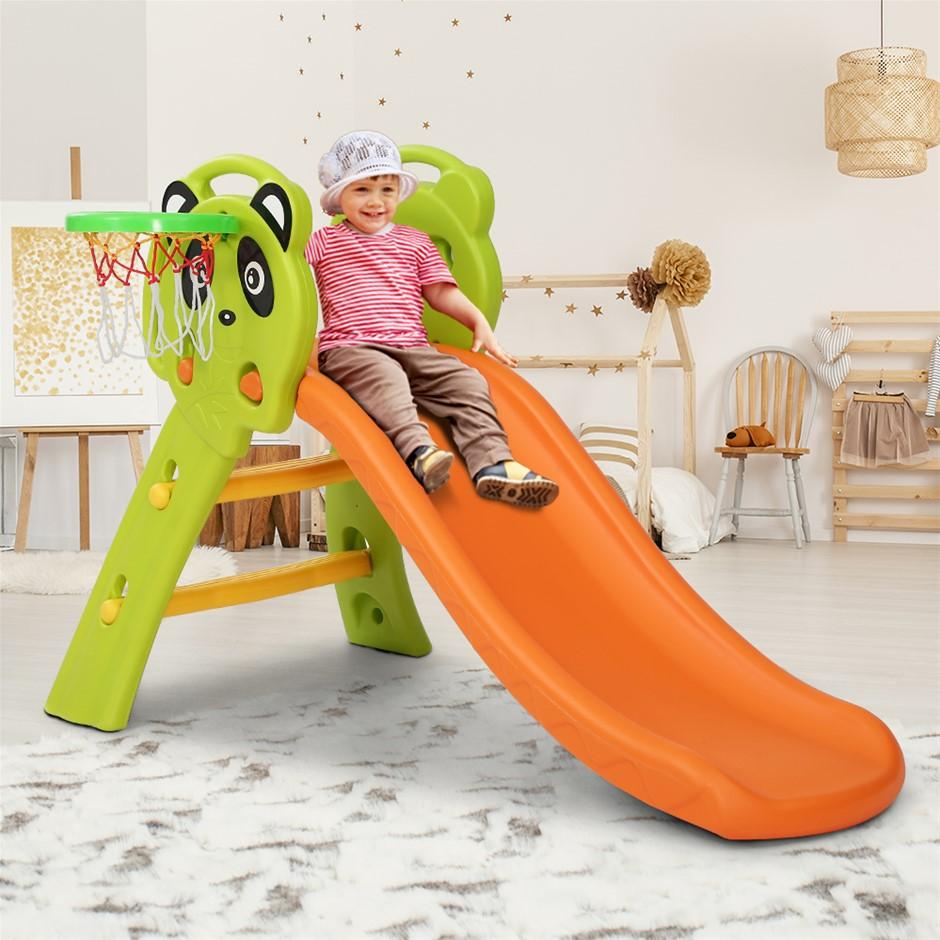 Keezi Kids Slide Basketball Hoop Activity Center Outdoor Toddler Play Set