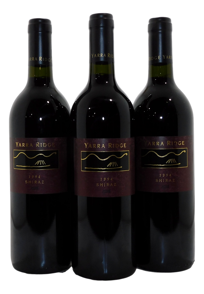 Yarra Ridge Vineyard Shiraz 1994 (3x 750mL). Yarra Valley. Cork