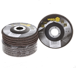 10 x VOREL Abrasive Flap Discs 115mm Gri