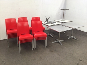 23 x Cafe chairs and 6 x Cafe Tables