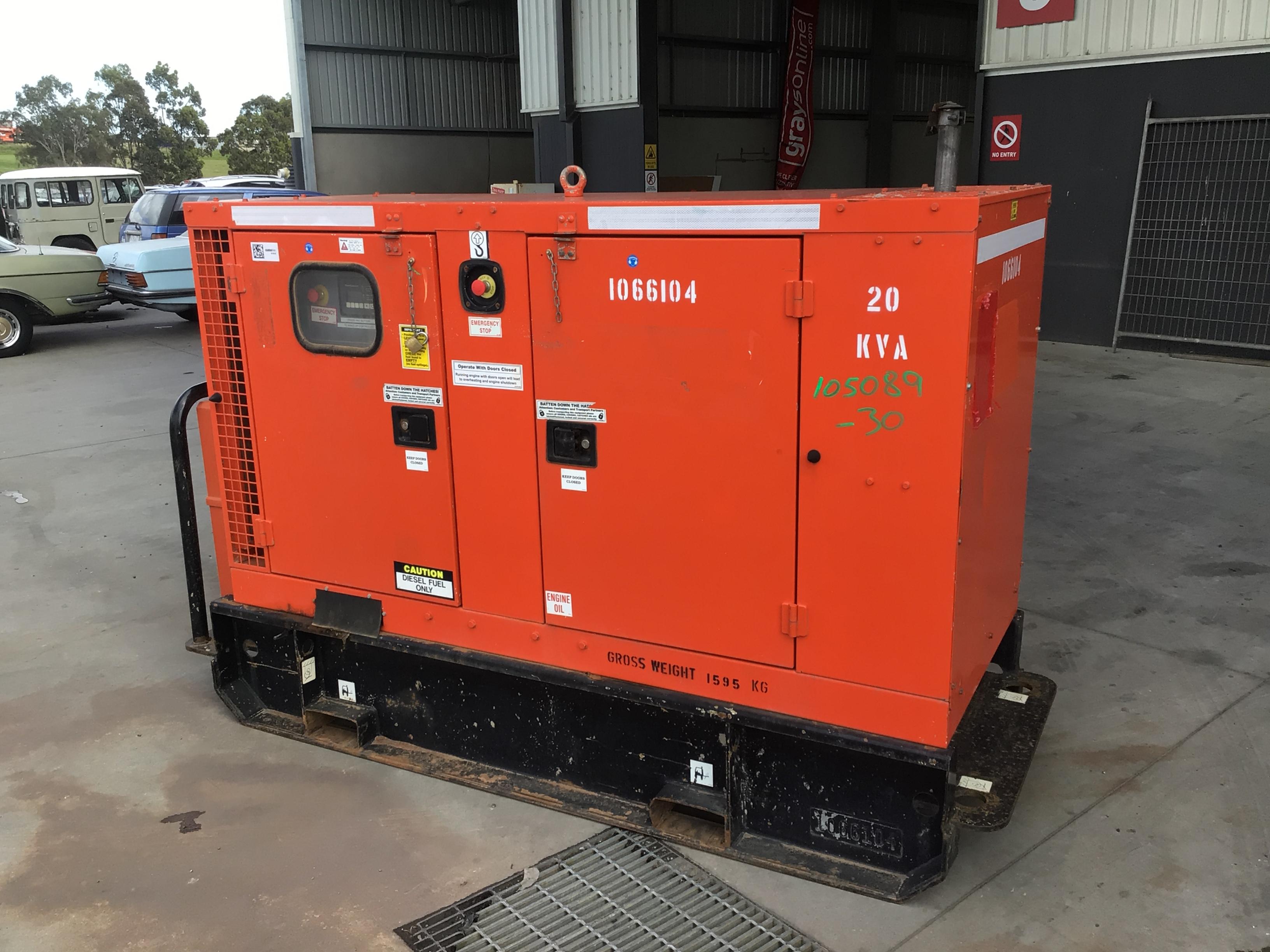 2010 Cummins C20D5R 20 kva Generator