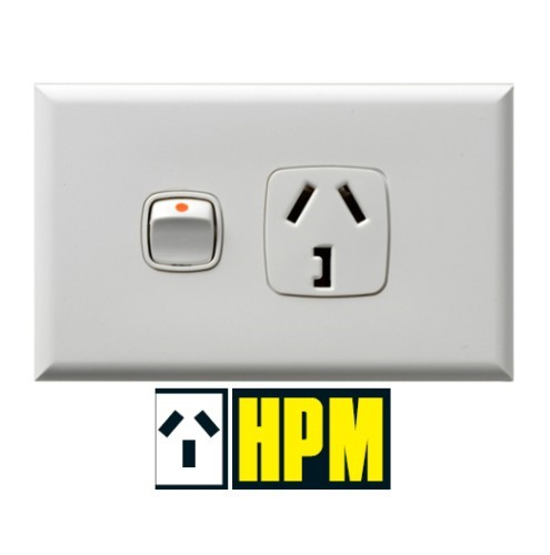 HPM Excel XL SINGLE POWERPOINT 32A WHITE XL787/32WE 240V