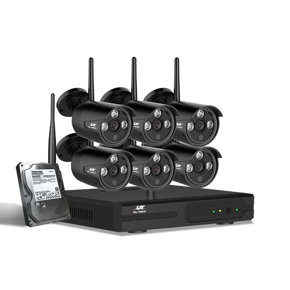 UL-tech CCTV Wireless Security Camera System 8CH Home Outdoor WIFI 6 Bullet