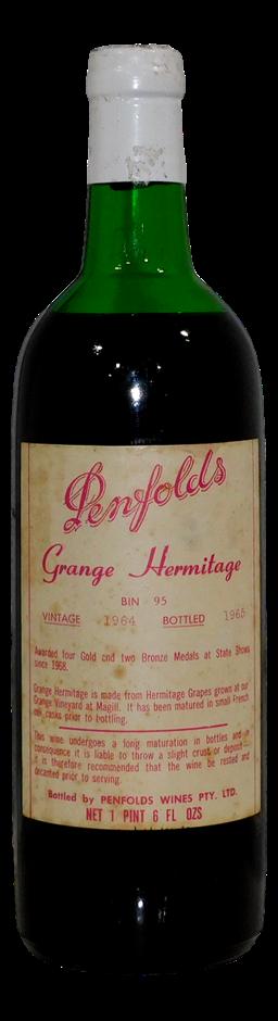 Penfolds Bin 95 Grange Hermitage Shiraz 1964 (1x 1 PT 6 FL OZ), SA