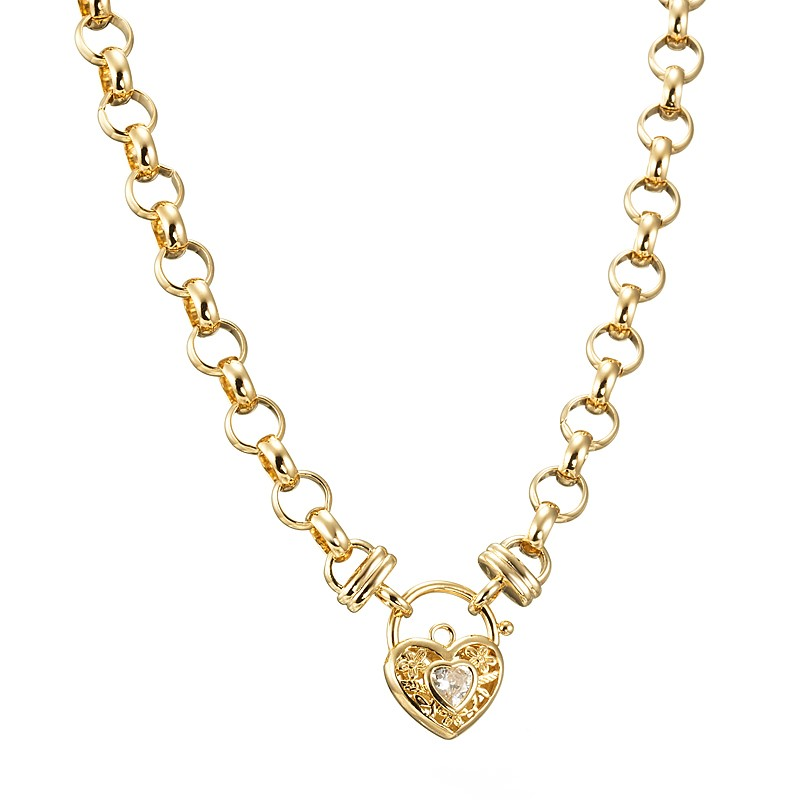 18ct Yellow Gold Layered Belcher Chain Necklace