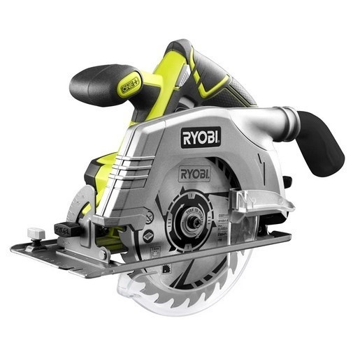 RYOBI 18V 165mm Circular Saw c/w 2 x Blades and Fence. Skin Only. Buyers No