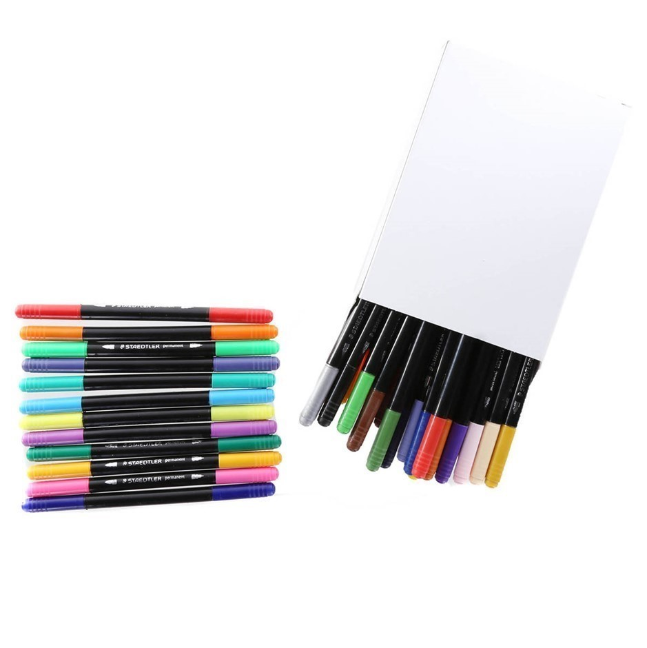 STAEDTLER 36pk Double Ended Permanent Pens. (SN:CC58967) (278404-169)