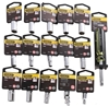 16 x STANLEY Assorted Metric/AF 1/4`` Drive 6pt Sockets. Includes: 6 x A/F