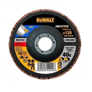 5 x DeWALT Ceramic Flap Disc 125 x 40 Gr
