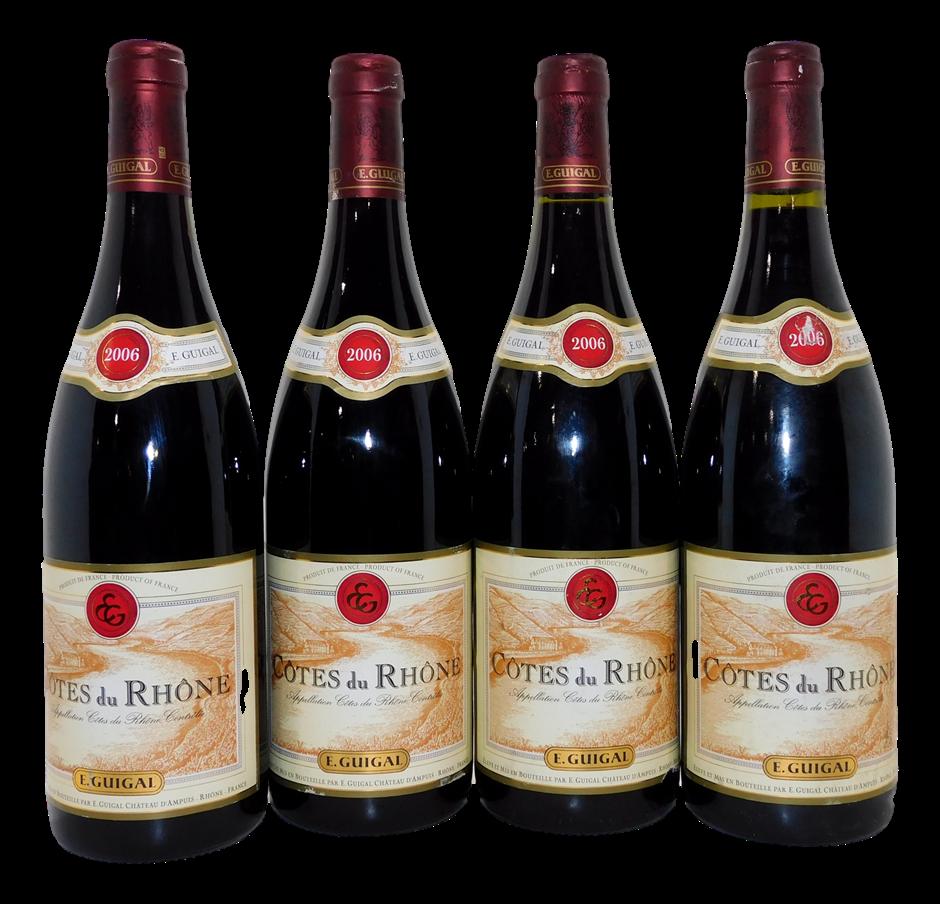 Guigal Cotes du Rhone Red Blend 2006 (4x 750mL), Rhone