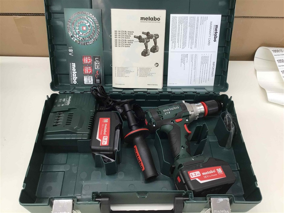 Metabo SB18LTXIMPULS Cordless Variable Speed Hammer Drill