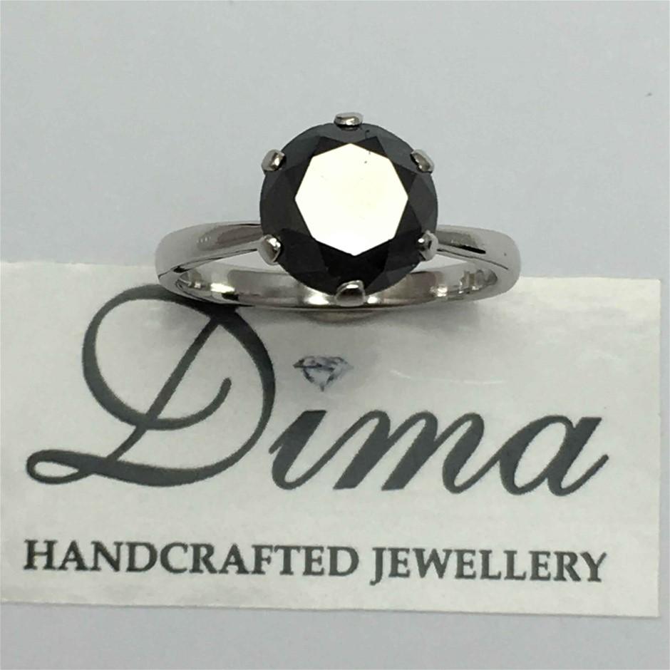 9ct White Gold, 3.38ct Diamond Ring