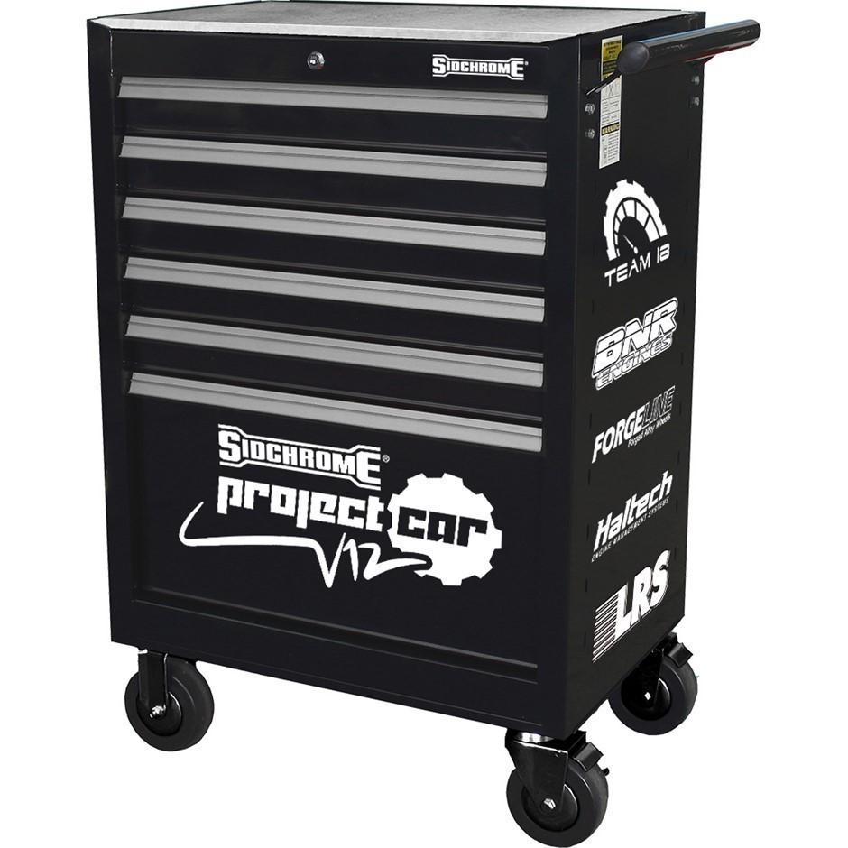 SIDCHROME 6-Drawer Roller Tool Cabinet (SN:SCMT50206ST) (278324-3)