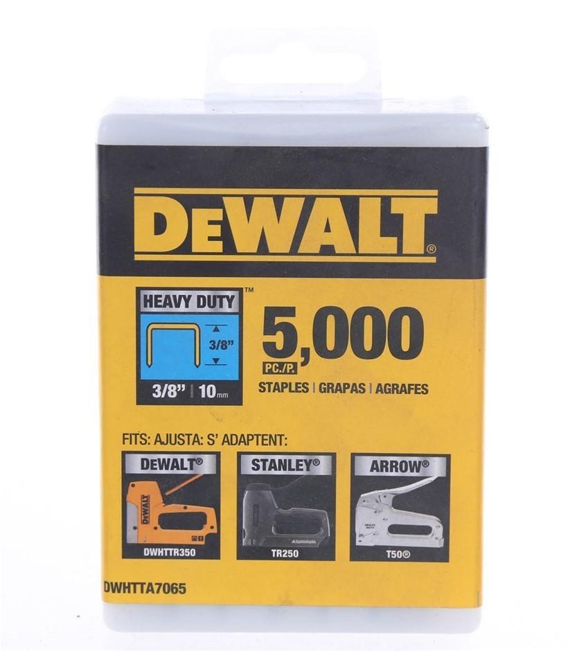Pack of 5,000 x DeWALT Heavy Duty Staples 3/8``/ 10mm (SN:DWHTTA7065) (2783
