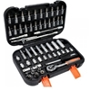 STHOR 56pc 1/4`` Drive Socket Set Contents: Sockets 6 to 13mm, T-Bar, Exten