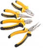 TOLSEN 4pc 160mm Plier set Comprising Combination, Long Nose, Side Cutter &