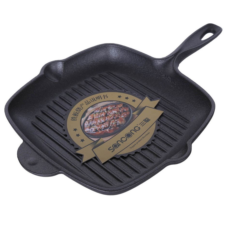 CAST Iron Griddle Pan 180mm x 270mm. Buyers Note - Discount Freight Rates A