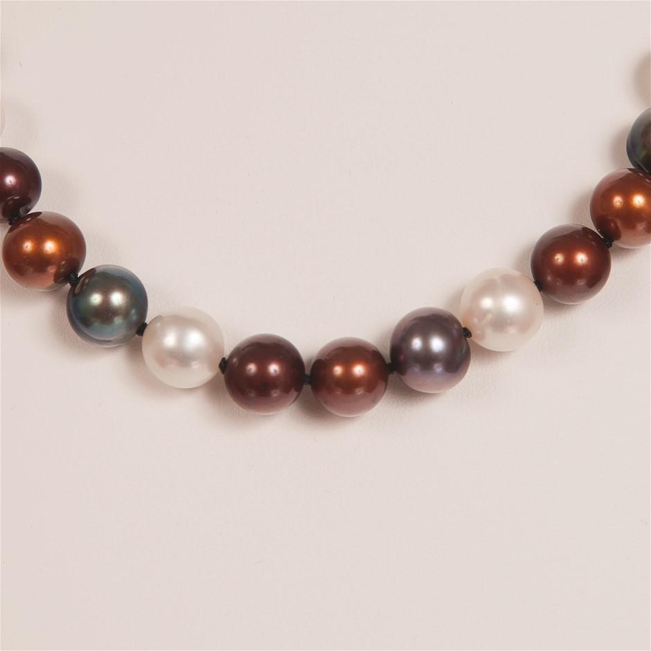 Single Strand Multi Colour Freshwater Pearl Necklace