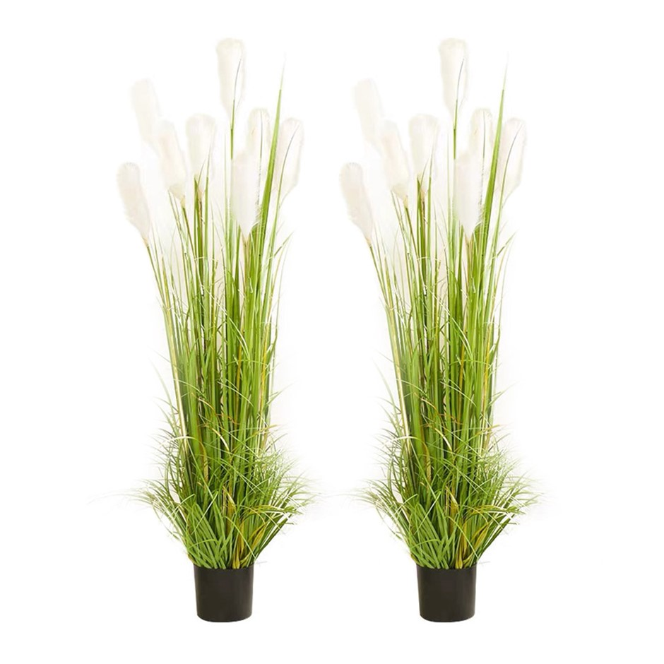 SOGA 2X 150cm Artificial Potted Reed Grass Tree Fake Plant Simulation
