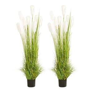SOGA 2X 150cm Artificial Potted Reed Gra