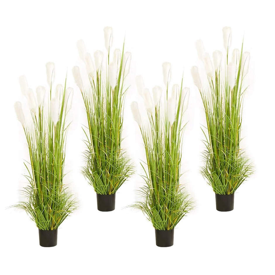 SOGA 4X 120cm Artificial Potted Reed Grass Fake Plant Simulation Decor