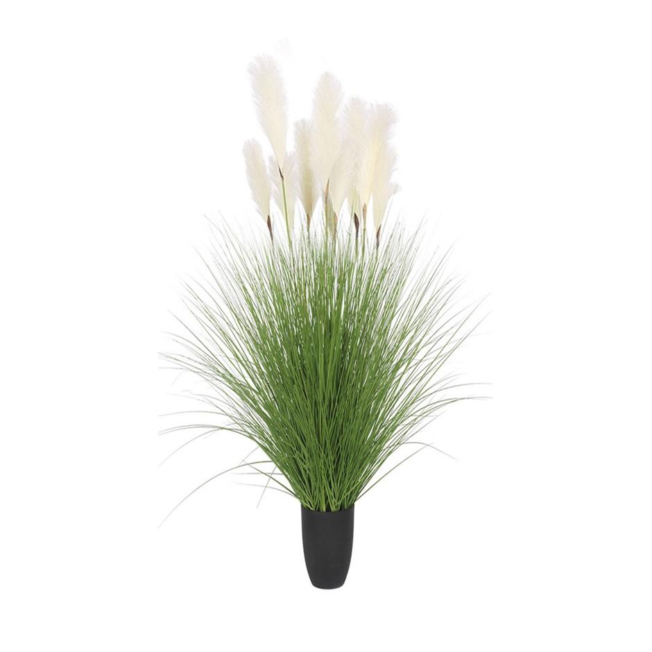 SOGA 137cm Artificial Potted Bulrush Grass Fake Plant Simulation Decor
