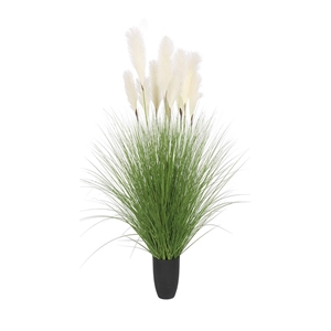SOGA 137cm Artificial Potted Bulrush Gra