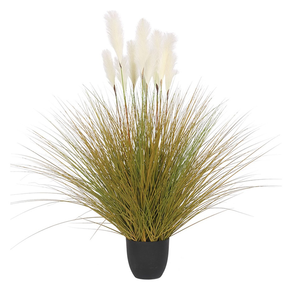 SOGA 137cm Artificial Potted Reed Bulrush Grass Fake Plant Simulation