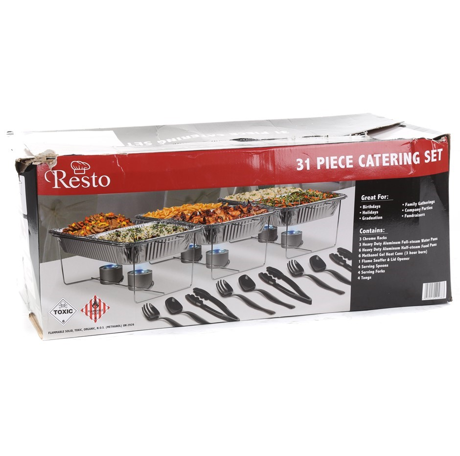 RESTCO 31pc Catering Set. N.B. Carton damage & may have pieces missing. (SN