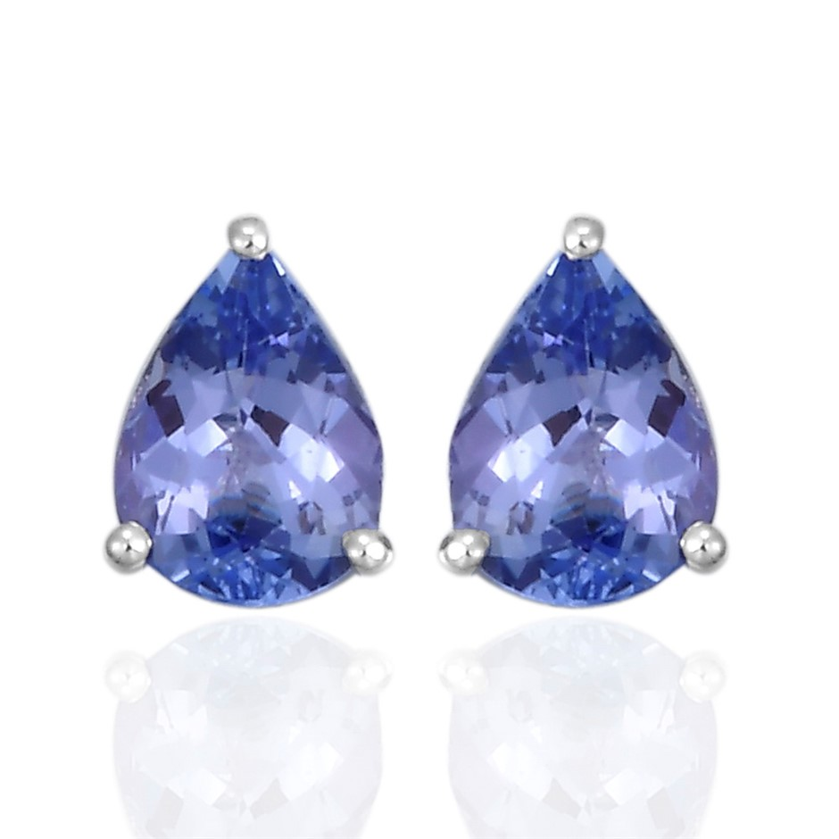 9ct White Gold, 1.97ct Tanzanite Earring