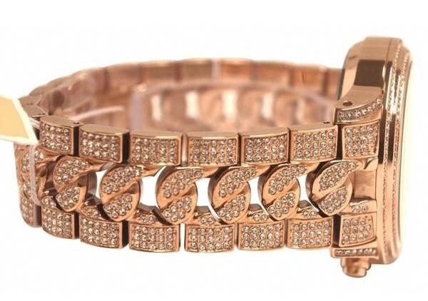 New Michael Kors rose Gold Plated gemstone stunning gem bracelet watch.