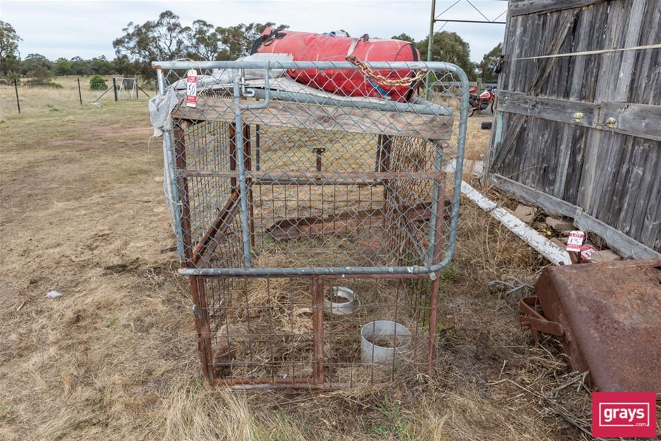Mesh Dog Cage