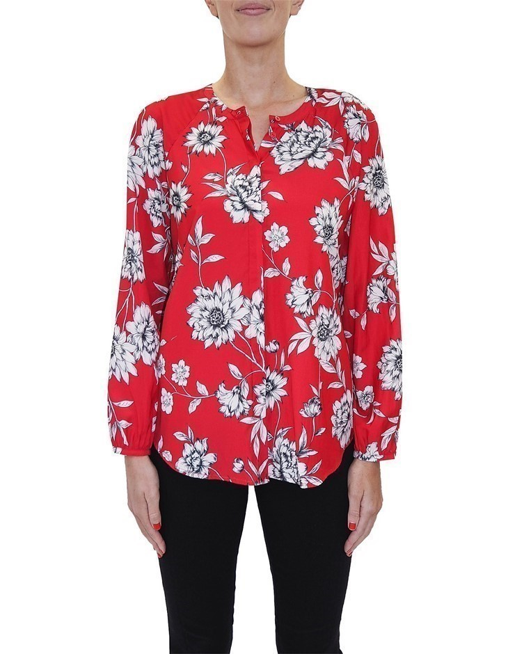 JUMP Floral Tunic Shirt. Size 16, Colour: Multi. Buyers Note - Discount Fre