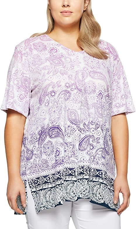 MY SIZE Women`s Plus Size Broome Ombre Top, Color Lilac, Size S. Buyers Not