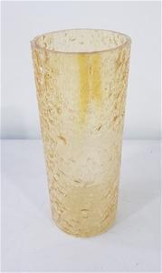 Sunglow Rock Salt Glass Vase (Size: 10.8