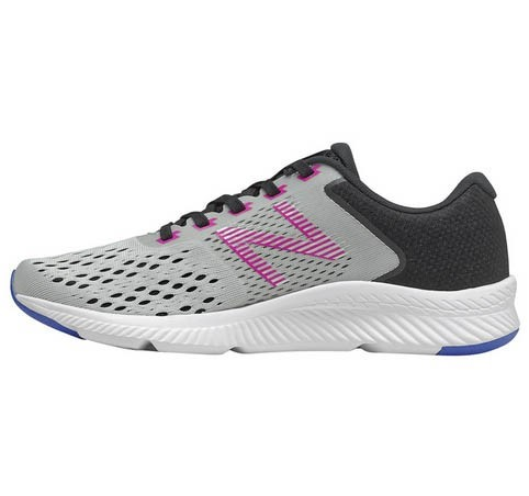 NEW BALANCE Womens Running Sneakers, Size: 4.5 US , Colour: Grey/ Black /Pu