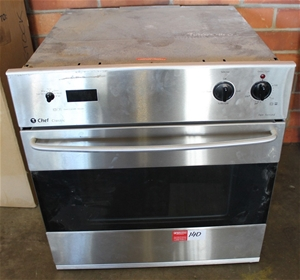Chef Classic Fan Forced 600mm Wall Oven Auction 0040