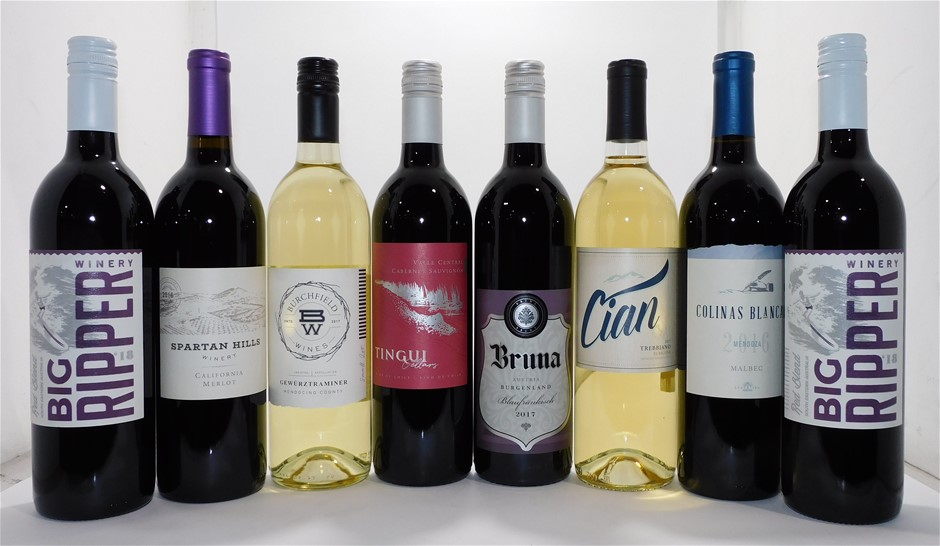 Mixed Pack of Assorted Red & White Wine (8x 750mL)