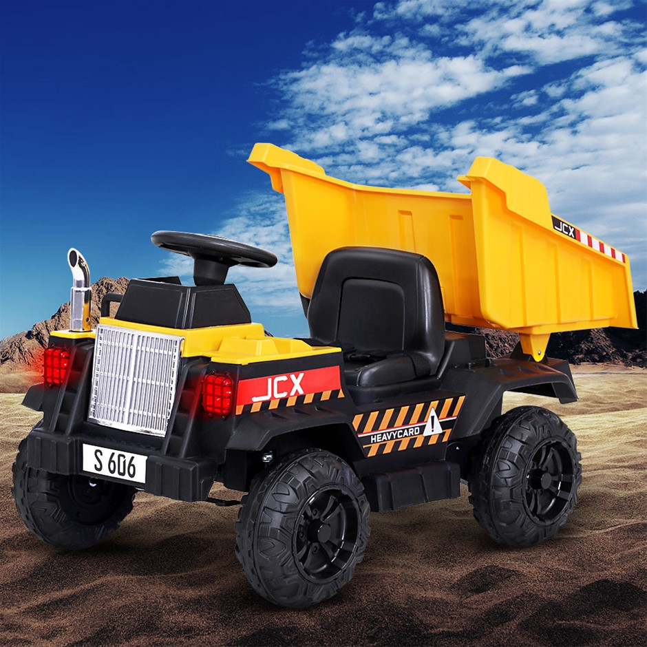 Rigo Kids Ride On Car Dumptruck 12V Electric Bulldozer Toys Cars Battery