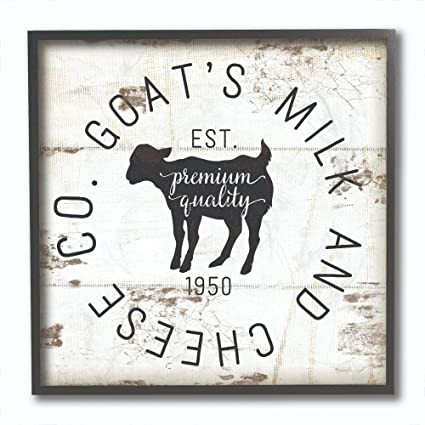 THE STUPELL HOME DÉCOR COLECTION, 12 x 12 Inches, Goat Milk Wall Art, Timbe