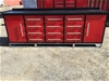 2021 Unused large Work bench, with 12 drawers & 2 large storage cabinets