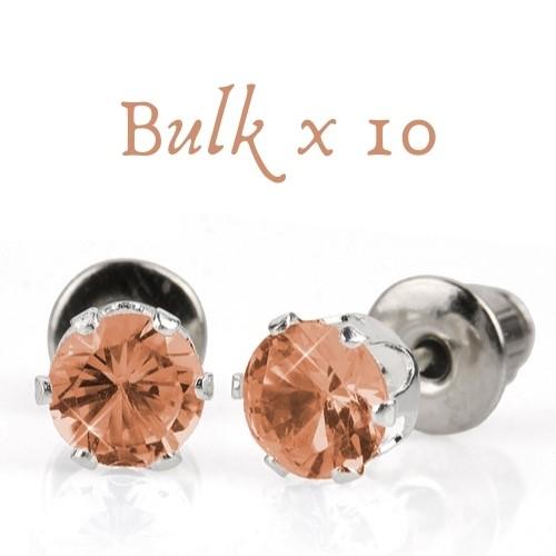 BULK PACK - 10 x 5mm Birthstone Earrings (October) - Great Gift Idea